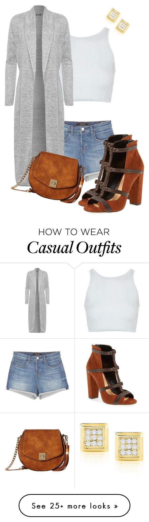 """""""Casual"""" by kmariefashion on Polyvore featuring J Brand, Daya, Topshop, WearAll and Gabriella Rocha"""