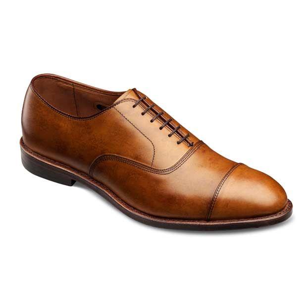 PARK AVENUE - Cap-toe Lace-up Mens Dress Shoes by Allen Edmonds in Walnut Cloud Finish for $335.00