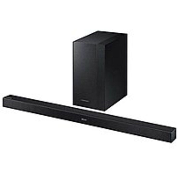 A Samsung K-Series HW-KM45C 2.1 Channel Soundbar and Wireless Subwoofer Speaker System - 300 Watts RMS - Black