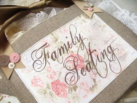 FAMILY SEATING SIGN