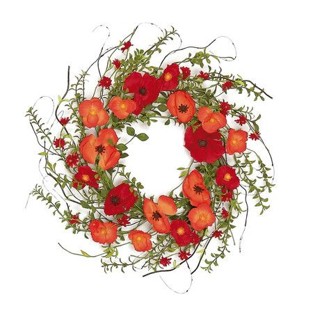 Hang this lush faux floral wreath in the entryway or over the living room mantel for an effortless seasonal update. Features:...