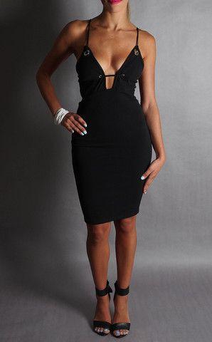 Tinker Beauty Black Bodycon Midi Dress – 3 HOUR DRESS
