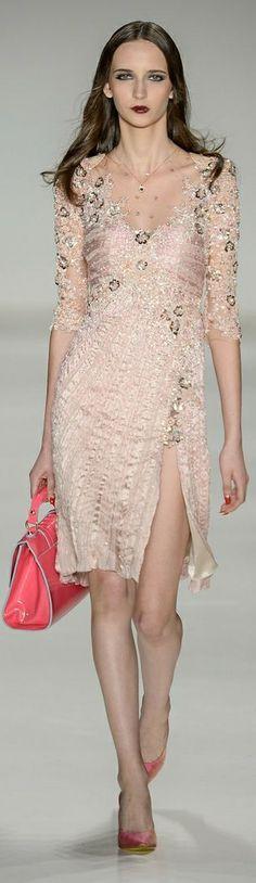 nude cocktail dress by Samuel Cirnansck 2014