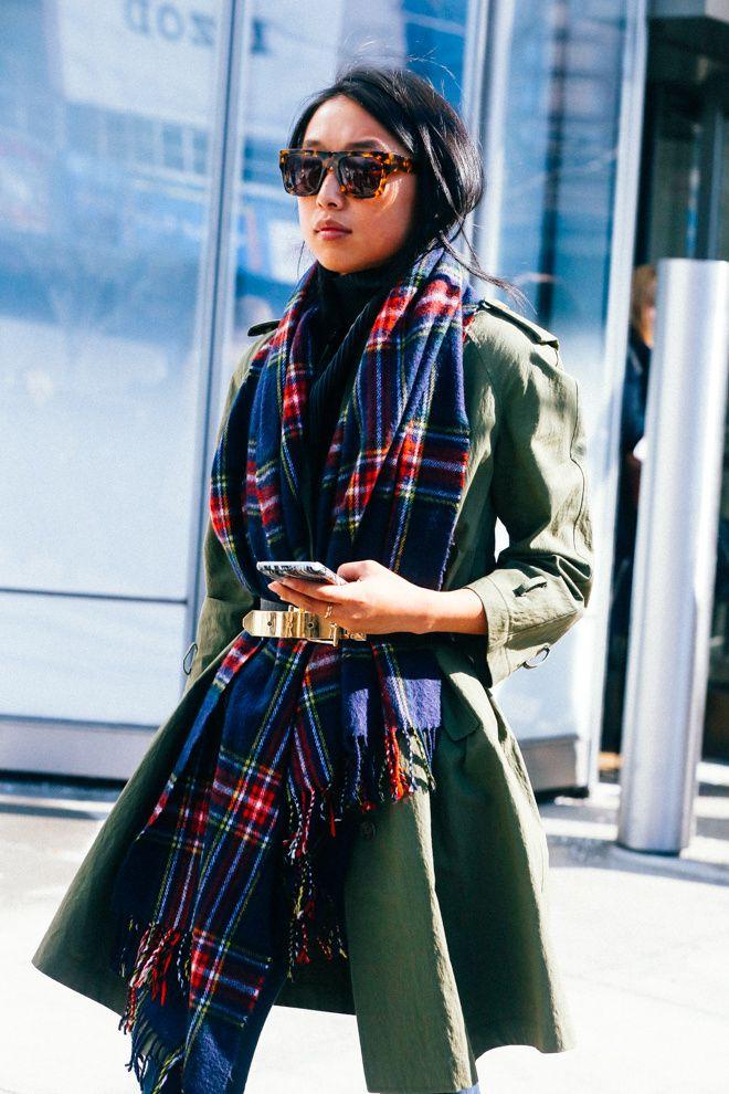 Street looks à la Fashion Week automne-hiver 2015-2016 spécial lunettes de soleil