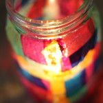 Decoupage jar Candle Holder - kids project