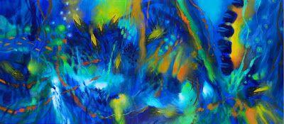 Jacanamijoy trabaja sus lienzos a partir de flashes memoriosos inconexos que los recuerdos alimentan, la imaginación del poeta visual enriquece y el colorista consumado transforma en composiciones en principio abstractas aunque cargadas de guiños figurativos tan discretos que pueden pasar desapercibidos.