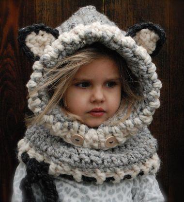 Fox Hooded Cowl Crochet Pattern Free Video Too cute ...