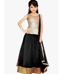 Buy Black Net plain kids lehenga-choli kids-lehenga-choli online