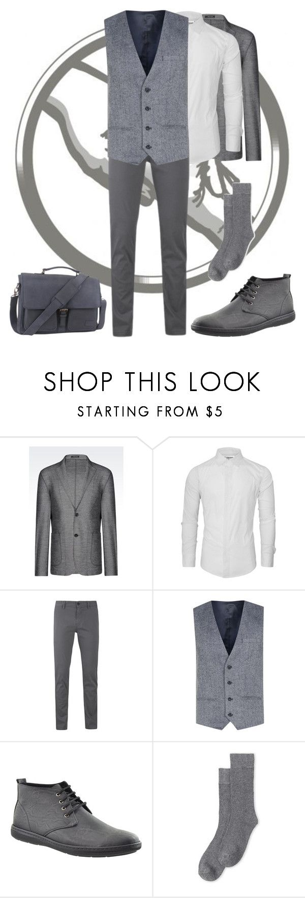 """Abnegation's Men's Outfit"" by keih95 ❤ liked on Polyvore featuring Emporio Armani, BOSS Orange, Topman, Lorenzo Uomo, The British Belt Company, men's fashion and menswear"
