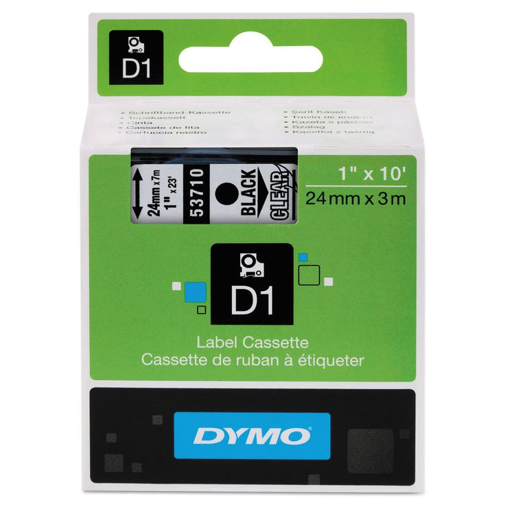 Dymo D1 High-Performance Removable Label Tape 1 inches x 23 ft on Clear