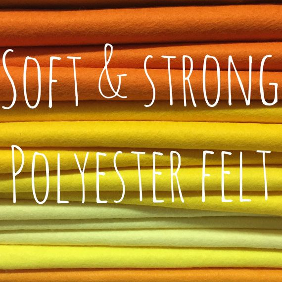 Polyester Felt  51 colours  Soft and by CreativeCraftSupplys