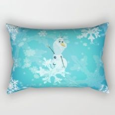 olaf in the snow Rectangular Pillow