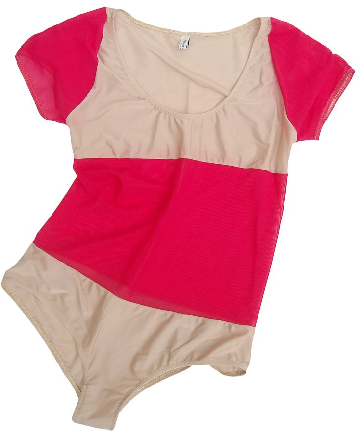 Body 2block nude and red. 80% nylon 20% elastic.