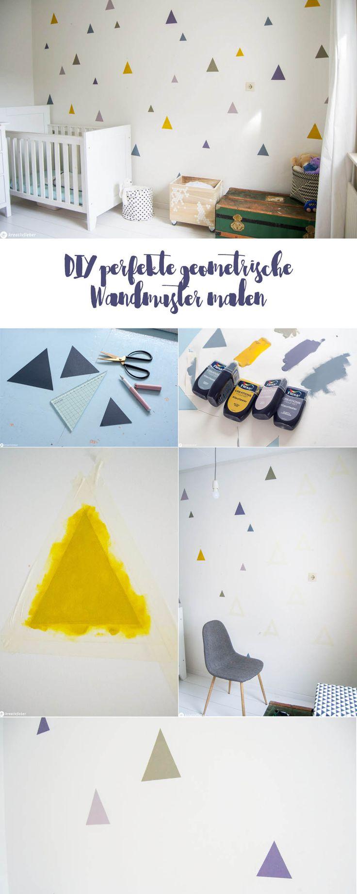 DIY perfekte geometrische Wandmuster malen