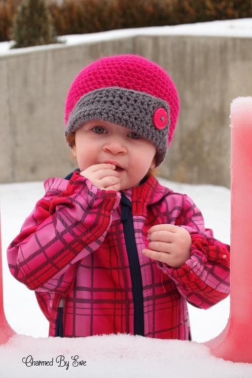 12 best Crochet patterns-Baby girl & boy/toddler hats images on ...