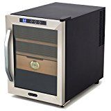 #4: Best Freestanding Thermo-Electric Cigar Humidor Humidifier Storage Box Cooler Set System- This Unit Is For The True Cigar Connoisseur- Beautiful Stand Alone Unit Digital Thermostat Preserves Flavor