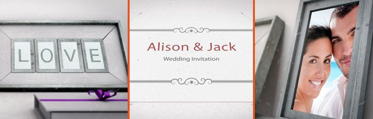 animated wedding invitation