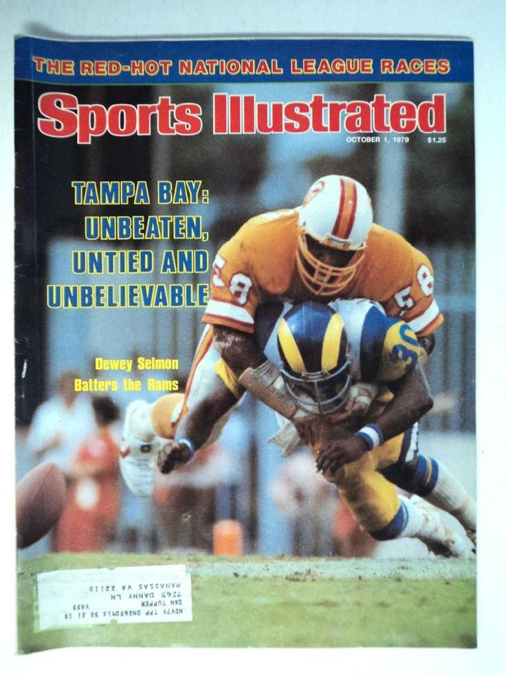 1979 Sports Illustrated #Football Si Magazine Bucaneers Dewey Selmon Batters Rams from $20.75