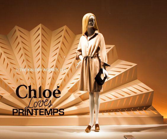 Photograph of Chloe visual merchandising in Paris at department store printemps
