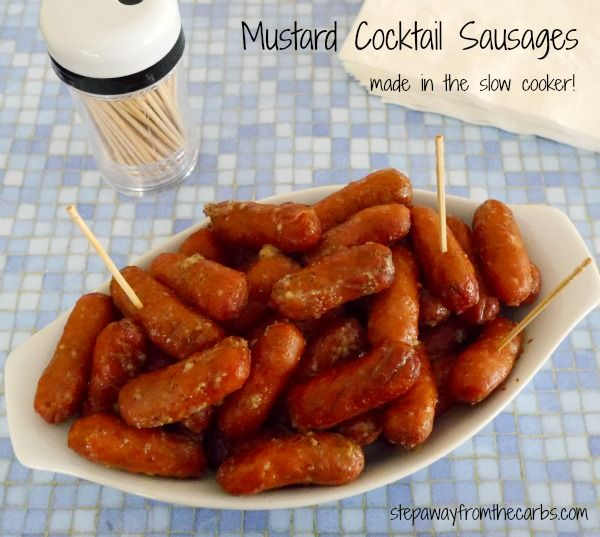 Mustard Cocktail Sausages - the perfect low carb party food!