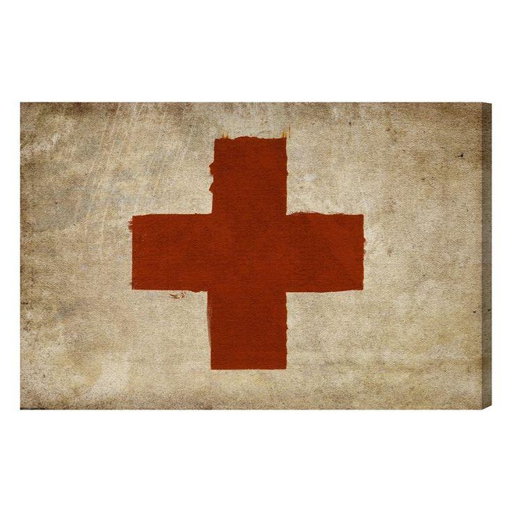 Hatcher & Ethan Red Cross Canvas Art - HE10760_
