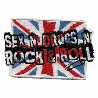 """Sex, Drugs, N Rock & Roll"" Embroidered Iron or Sew on patch $5.00"