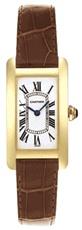Cartier Tank Americaine 18kt Yellow Gold Ladies Watch W2601556