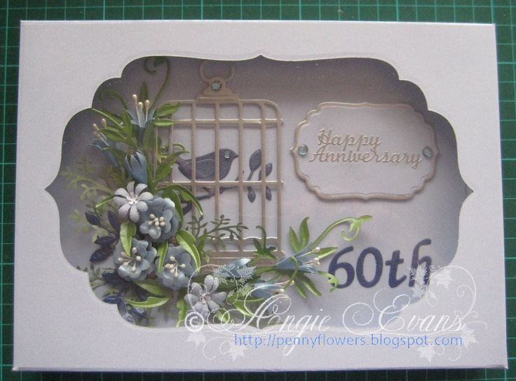 60th Wedding Anniversary Gift Ideas For Friends : flowers 60th quilled flowers 60th wedding wedding anniversary cards ...