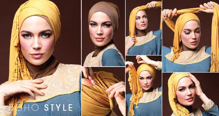Hijab Style Secret ala Eropa, Boho Style