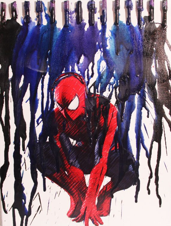 12inx16in Spiderman Crayon Melt Art   Check out the video and more on my YouTube Channel! http://www.youtube.com/playlist?list=PL95mGvRrM14nTmsWzyiunYF5TXTcWs1Ny