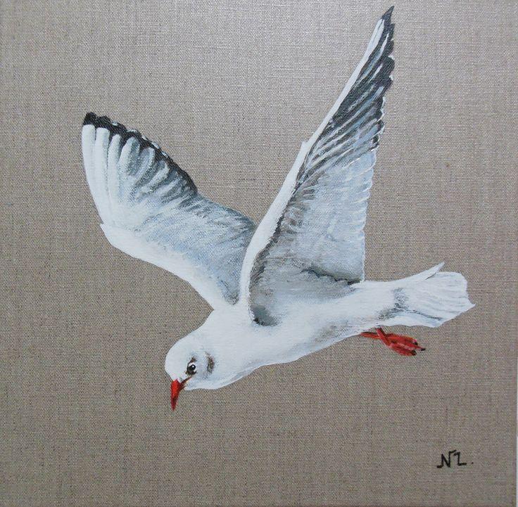 17 best images about mes peintures oiseaux plumes on pinterest to be logos and pays de la loire - Dessins de mouettes ...