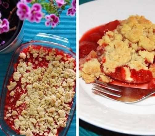 Crumble de fresa para #Mycook http://www.mycook.es/receta/crumble-de-fresa/
