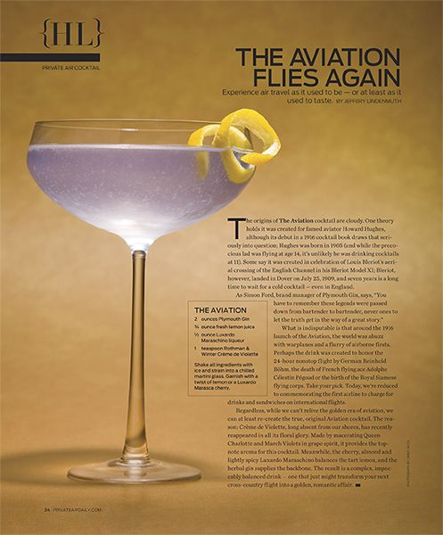 Aviation Cocktail. A prohibition classic!