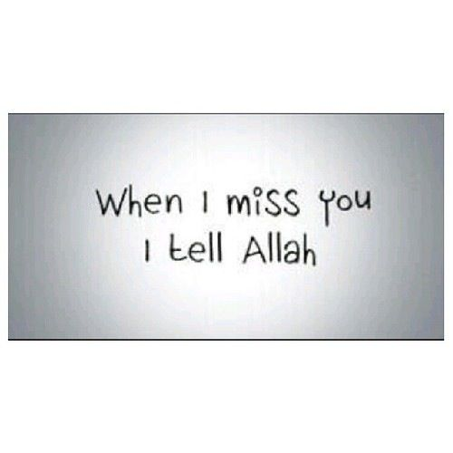 I miss you....