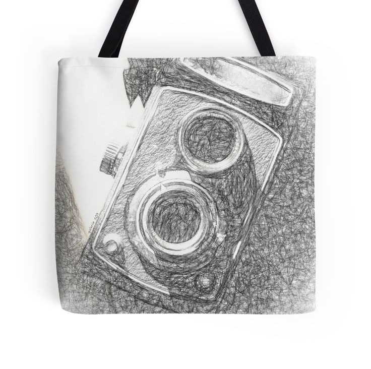 Vintage Camera - Scketch Tote Bags by Galerie 503