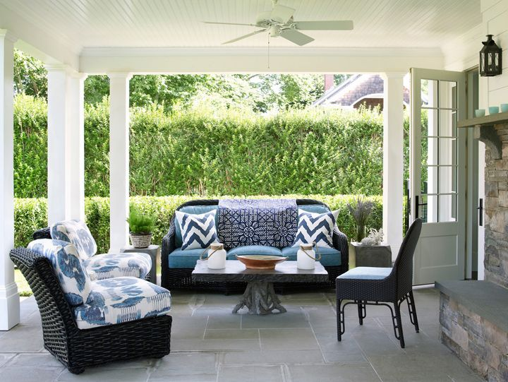 Blue And White Porch | Phoebe Howard