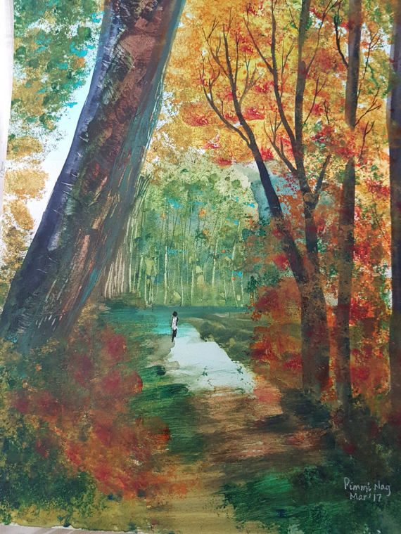 Autumn walk by ChezPimmi on Etsy