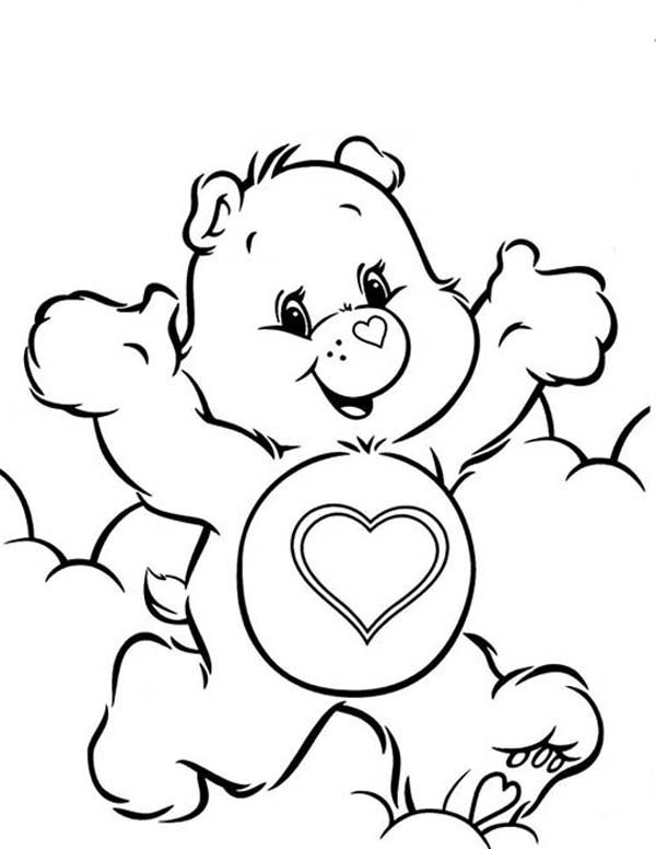 68 best care bear tenderheart bear 4 images on pinterest for Care bears coloring pages