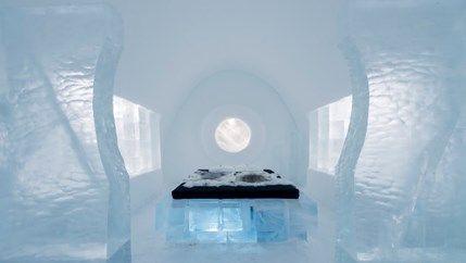 Logeren in een sprookjesachtig ijshotel