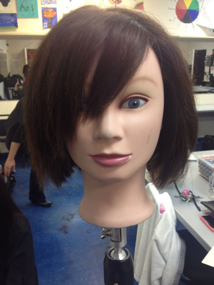 Inverted Bob with side bangs