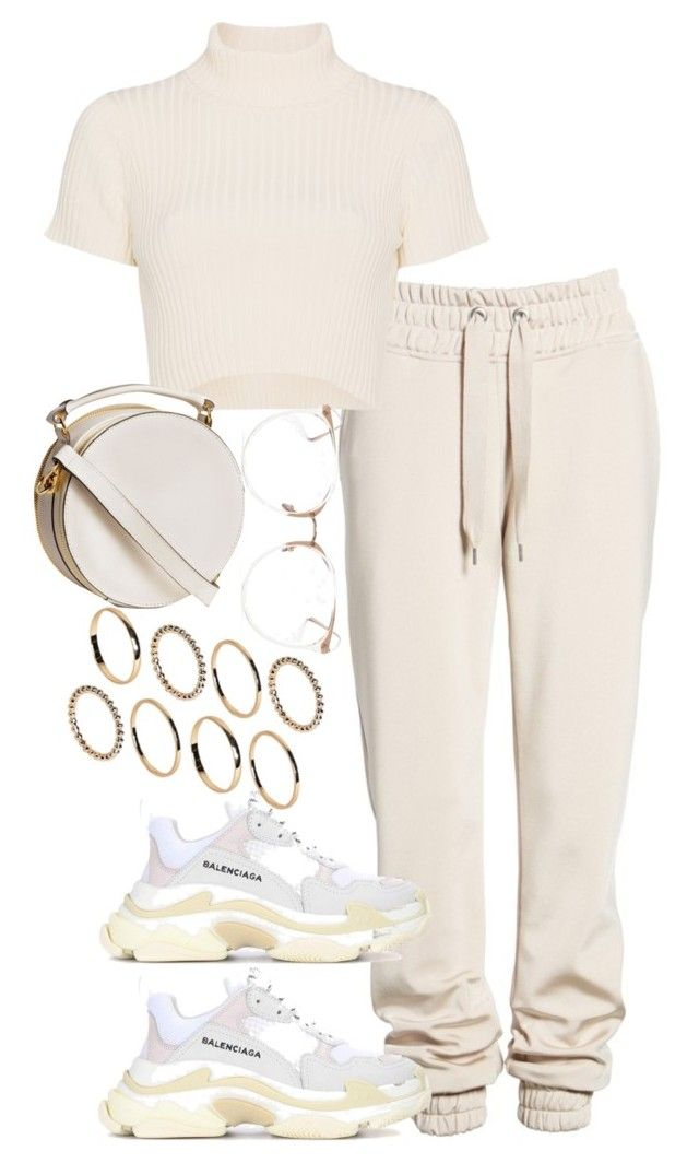 """Untitled #293"" by hopelesspeaches ❤ liked on Polyvore featuring ASOS, Ivy Park, Staud, Balenciaga and Linda Farrow"