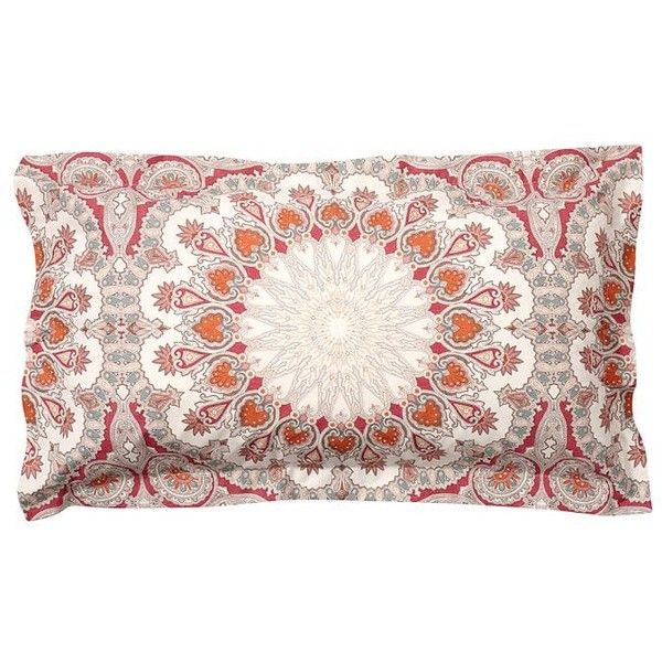 Pottery Barn Valencia Sham ($40) ❤ liked on Polyvore featuring home, bed & bath, bedding, bed accessories, pottery barn shams, bright colored bedding, pottery barn duvet, pottery barn bed linens and pottery barn pillow shams