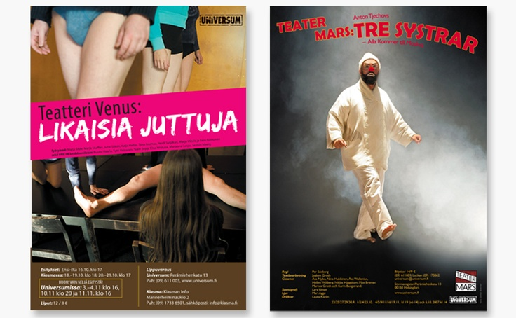 "2 posters designed for Theatre ""Universum"" in Finland"