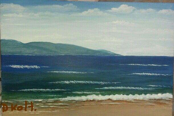 Sea akrilik painting on canvas 12/07/2015 #painting