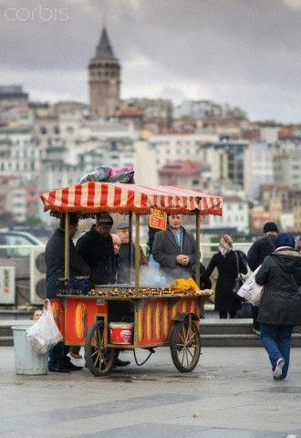 Street vendor in Istanbul, Turkey.