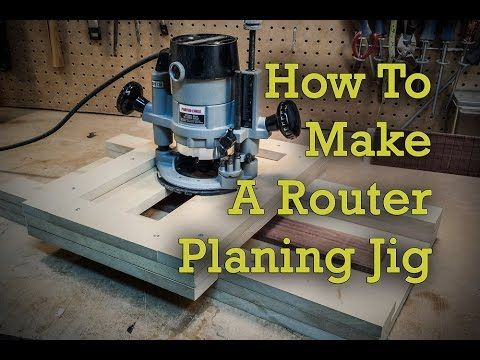 "You can download the plans for this router planing jig at http://projectelectricguitar.com I made a small router planing jig using 5/8"" MDF and some screws. ..."