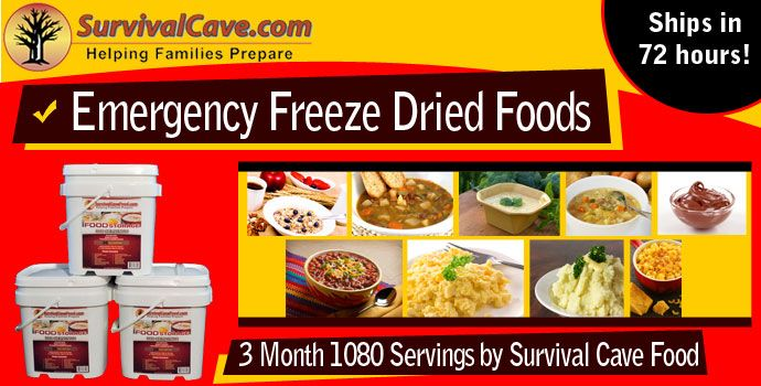 survival cave emergency food supply best long term food for survival