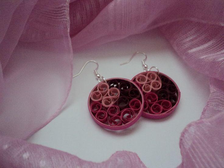 MinkArt quilling fülbevaló / earrings . Quilling jewelry by MinkArt. https://www.facebook.com/minkartdesign