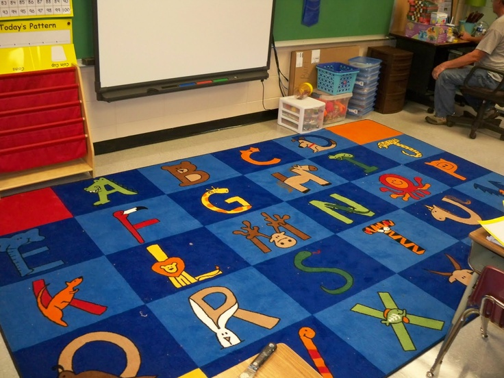 Classroom Rugs Are Useful For Young Children Because The Teacher Can Assign  Squares To Each Child