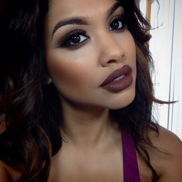 Vampy Fall Makeup Look For Brown Dark Skin Ladies